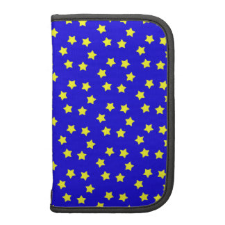Small Yellow Stars on Blue Background Planners