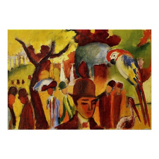 Small Zoological Garden by August Macke Posters