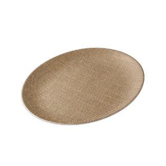 Smaller Burlap Plate