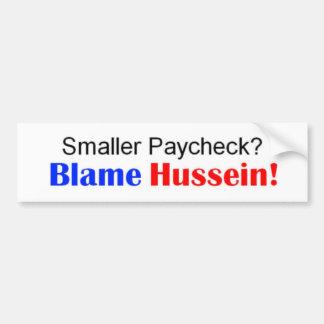 Smaller Paycheck Bumper Sticker