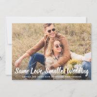 Smaller Wedding Same Love Photo Classic Blue Announcement