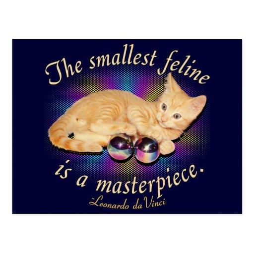 Smallest Feline Postcard