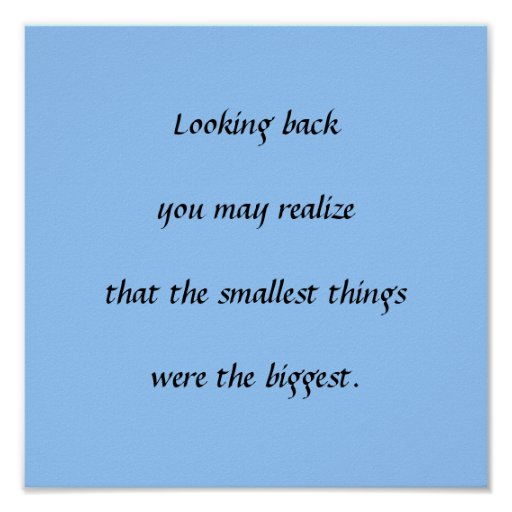 Smallest Things Poster