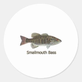 Smallmouth Bass Art (titled) Round Sticker