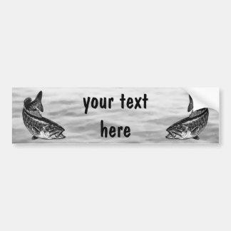 Smallmouth Bass Fishing Car Bumper Sticker