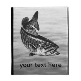 Smallmouth Bass Fishing graphic iPad Folio Case