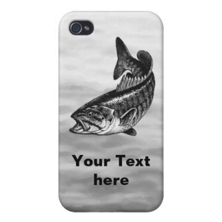 Smallmouth Bass Fishing graphic iPhone 4/4S Covers
