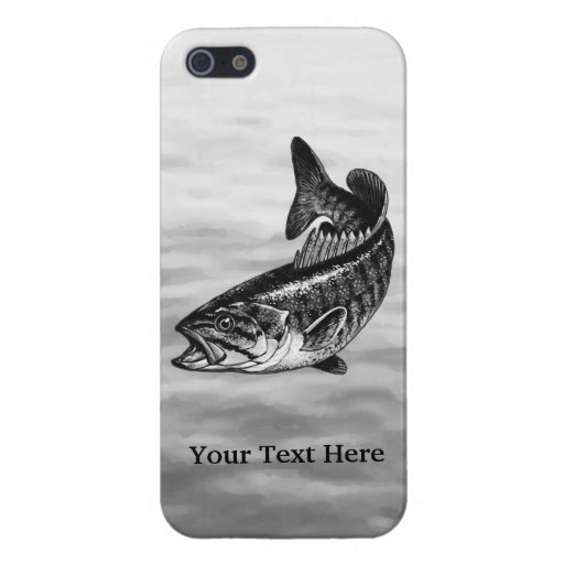 Smallmouth Bass Fishing graphic iPhone 5/5S Cases