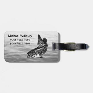 Smallmouth Bass Fishing Luggage Tag