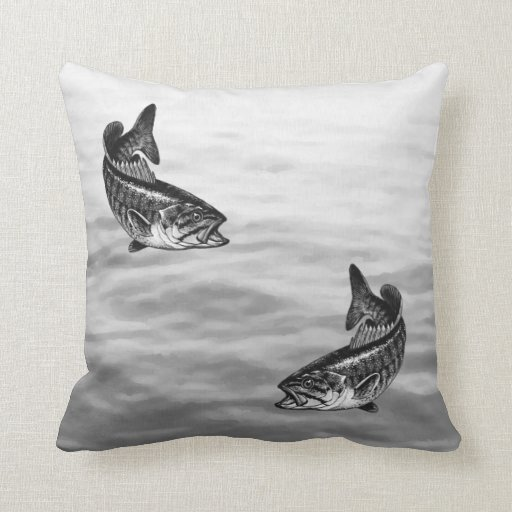 Smallmouth Bass Fishing Pillows