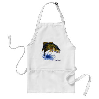 Smallmouth Bass leaping Adult Apron