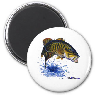 Smallmouth Bass leaping Refrigerator Magnets
