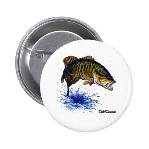 Smallmouth Bass leaping Pins
