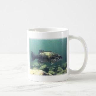 Smallmouth bass classic white coffee mug