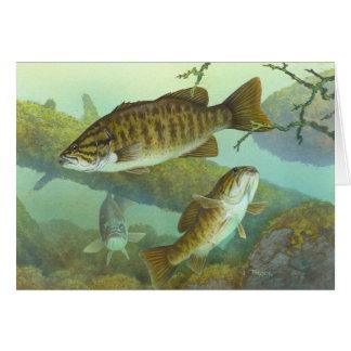 Smallmouth Bass Painting Blank Card