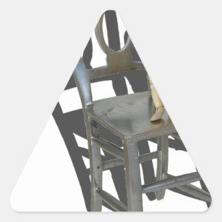 SmallPersonBigChair012915 Triangle Sticker