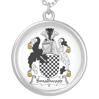 Smallwood Family Crest Round Pendant Necklace