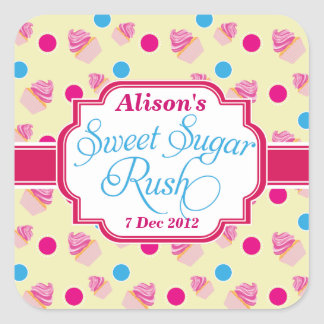 Smallyellow Sweet Sugar Rush Cute Cupcake Stickers
