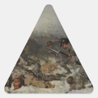 Smârdan Attack by Nicolae Grigorescu Triangle Sticker