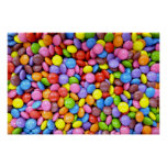 Smarites - fondo del caramelo de chocolate posters