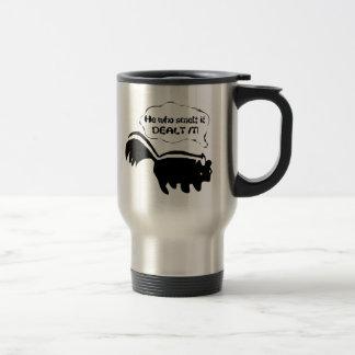 smart aleck skunk 15 oz stainless steel travel mug