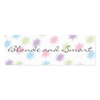 Smart and Blonde  Bookmark Business Cards