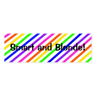 Smart and Blonde  Bookmark Business Card Template