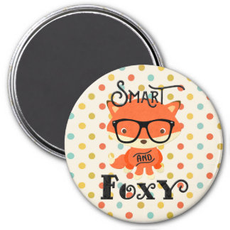 Smart AND Foxy-Stripes Magnet