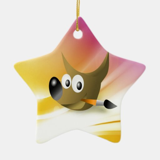 Smart and intelligent dog with pen christmas tree ornament
