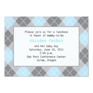 Smart Baby Boy 5x7 Paper Invitation Card