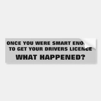 ¿Smart bastante para conducir qué sucedió? Pegatina Para Auto