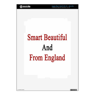 Smart Beautiful And From England iPad 3 Skins