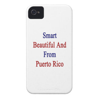 Smart Beautiful And From Puerto Rico Case-Mate iPhone 4 Case