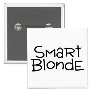 Smart Blonde Pinback Button