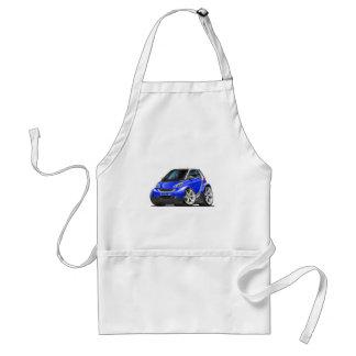 Smart Blue Car Adult Apron