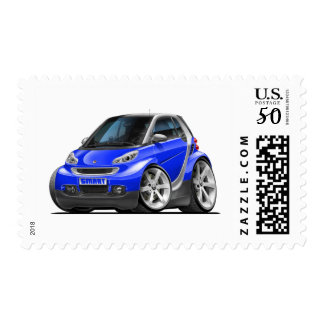 Smart Blue Car Postage
