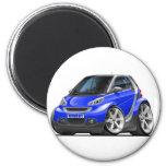 Smart Blue Car Refrigerator Magnets
