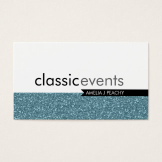 SMART BUSINESS CARD simple glittery blue texture