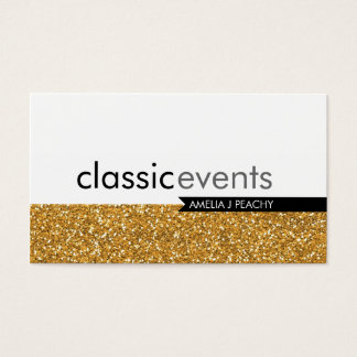 SMART BUSINESS CARD simple glittery effect gold