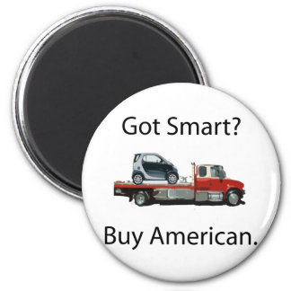 Smart Car Buy American 2 Inch Round Magnet