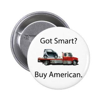 Smart Car Buy American Pinback Button