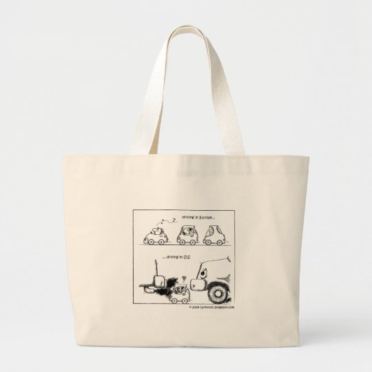 Smart Cars in U.S. Large Tote Bag