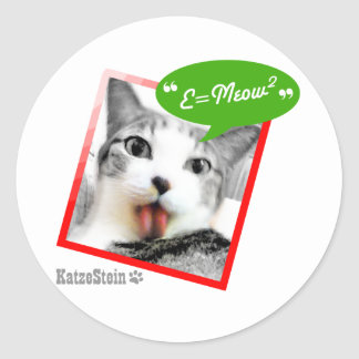 smart cat classic round sticker