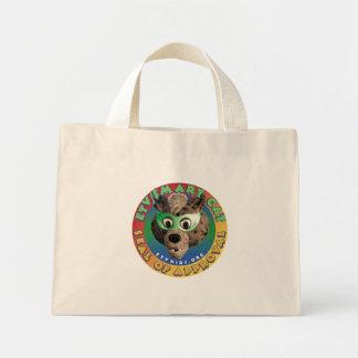smart cat tiny tote canvas bag