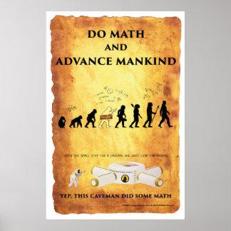 Smart Caveman: Do Math and Advance Mankind Poster
