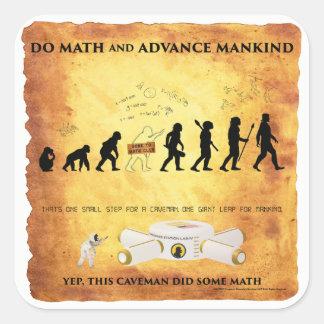 Smart Caveman: Do Math and Advance Mankind Sticker