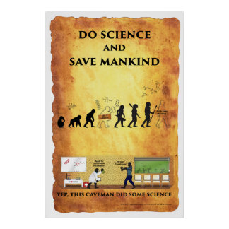 Smart Caveman: Do Science and Save Mankind Poster