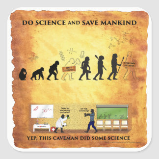 Smart Caveman: Do Science and Save Mankind Sticker