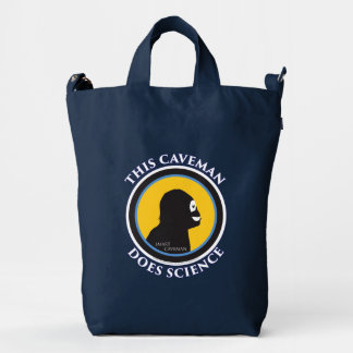 Smart Caveman: Do Science and Save Mankind Tote Ba Duck Bag