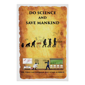Smart Cavewoman: Do Science and Save Mankind post Poster